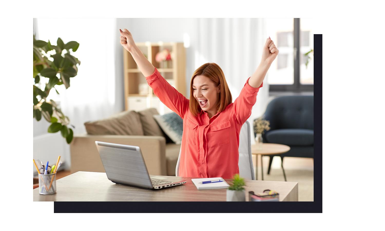 Engagerad-jublande-ledare-videommöte-webbinar-coaching-aktivitet-positiv-energi